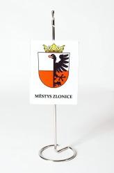 Tištěná stolní vlaječka městys Zlonice