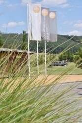 Venkovní vlajky s logem golfového klubu