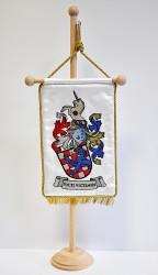 Ukázka vyšívané stolní vlaječky