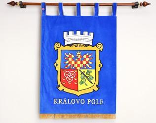 Vyšívaný znak ve velkém provedení městské části Brno - Královo Pole