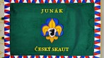 Vyšívaný prapor Junák - český skaut