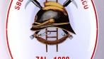 Smaltovaný hasičský ovál s nostalgickým hasičským znakem
