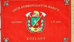 Slavnostní vyšívaný prapor SDH Kozlany