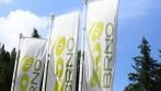 Venkovní tištěné vlajky s vlastní grafikou