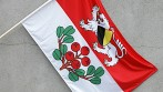 Tištěná vlajka pro obec Rynoltice