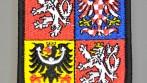 Ukázka vyšívané nášivky, velký znak ČR